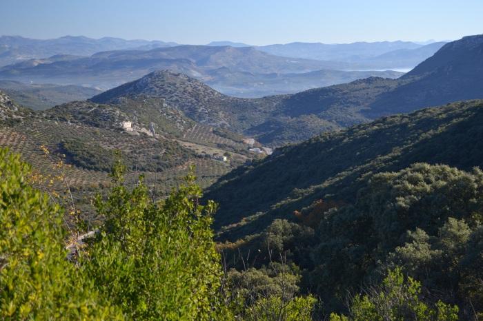 Vista de los macizos montañosos