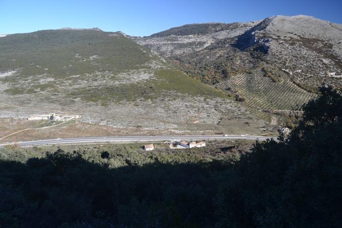 Vista del Tajillo del Águila y del Arroyo Valdecañas