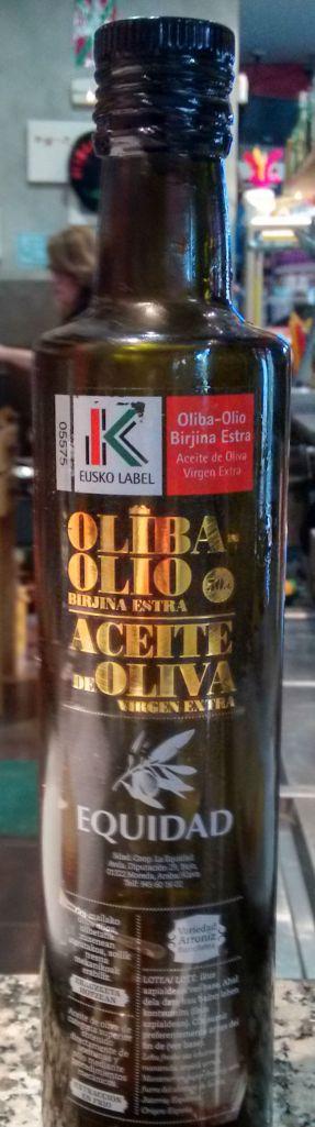Botella de aceite Equidad