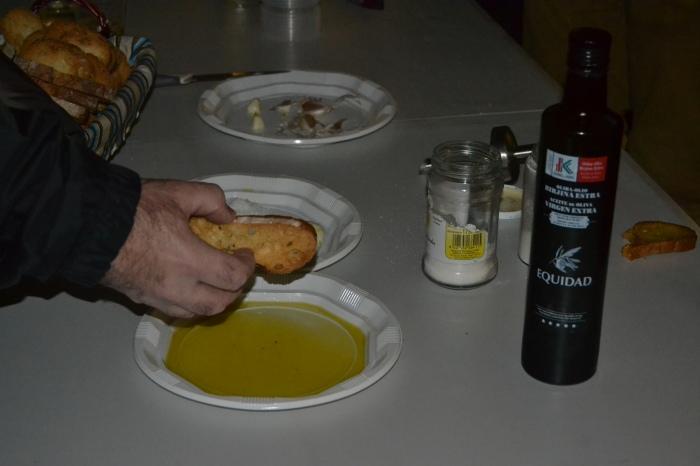 Untada de pan con aceite