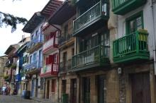 Casas de colores en la Plaza de Armas
