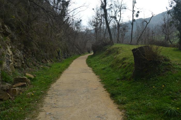 Camino hacia la estación de Arrazola