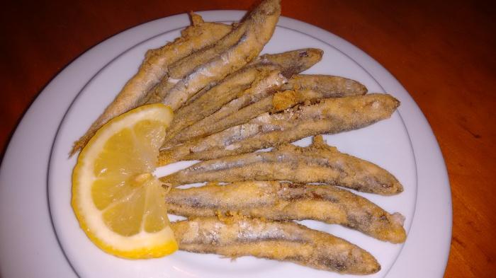 Tapa de Boquerón blanco de Málaga frito
