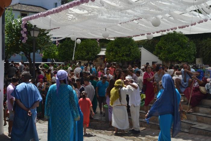 Ambiente en la Feria de Benalauría