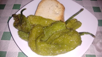 Tapa de Pimientos verdes fritos