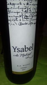 Vino blanco Isabel de Madrigal 2015