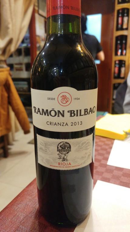Vino tinto Ramón Bilbao crianza 2013