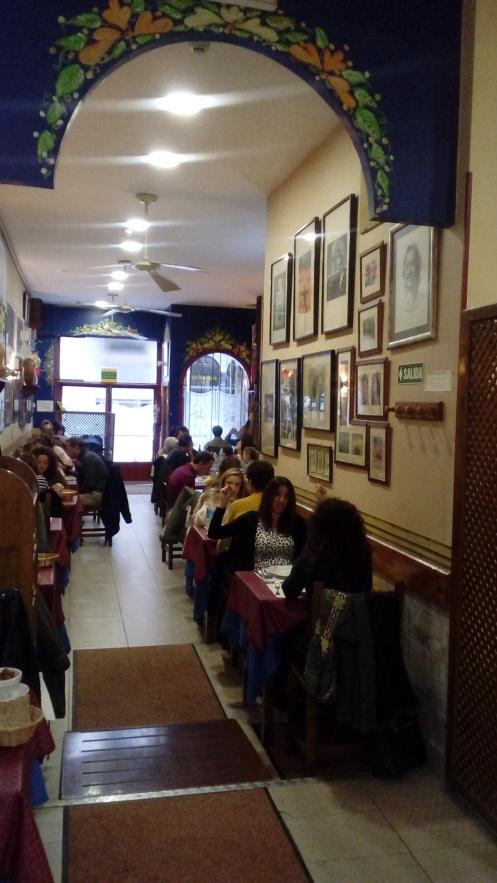 Vista del comedor del Restaurante Garibolo