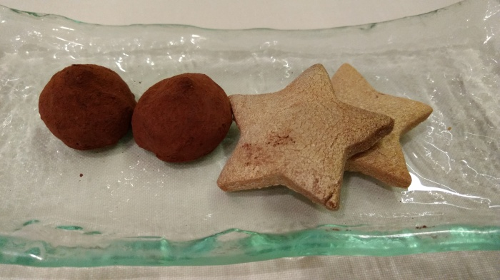 Trufas y galletas de canela