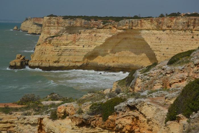 Paisaje de la costa del Algarve