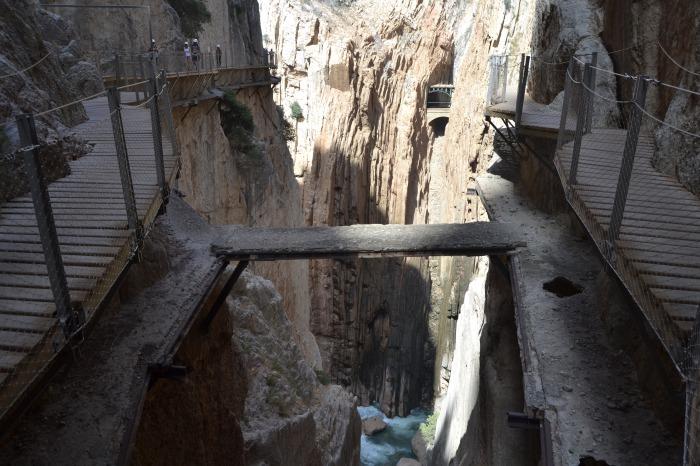 Vieja pasarela del Caminito del Rey