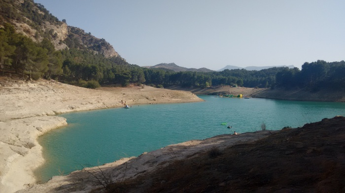 Zona de baño del Embalse del Conde de Guadalhorce